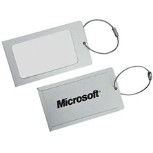 Higher end metal luggage tag. This aluminum luggage tag is for your better clients